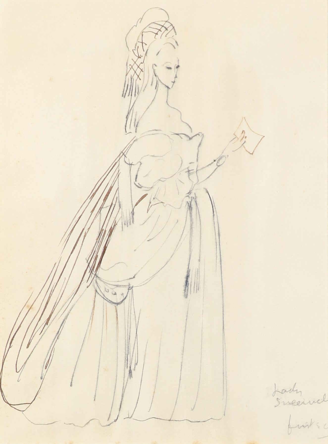 ‡Sir Cecil Beaton CBE (1904-1980) Costume designs for The School for Scandal: Lady Sneerwell;