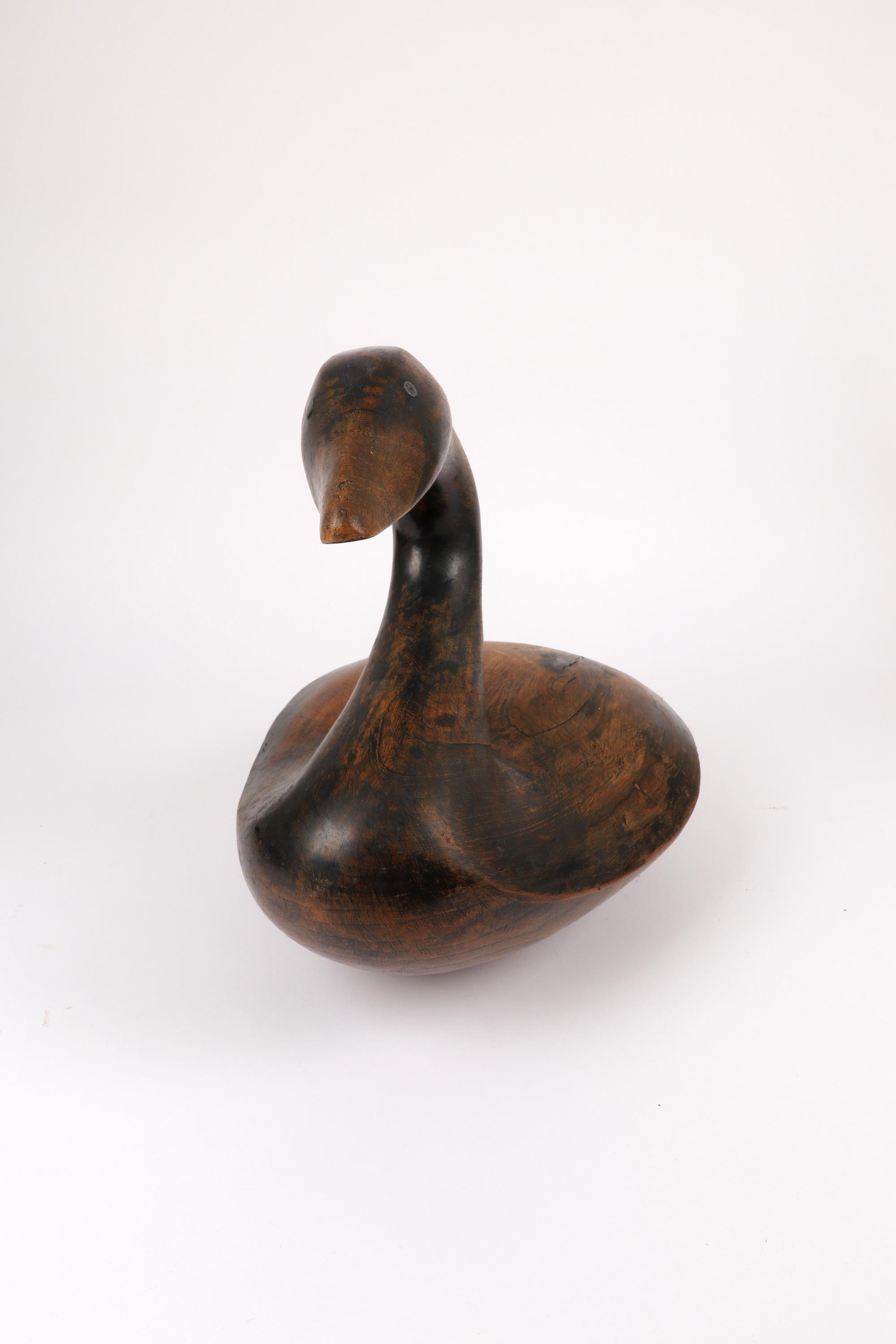 ‡Ian Rook (20th Century) Goose Signed and dated .I.ROOK.84. (to underside) Elm with metal eyes 40 - Image 2 of 4