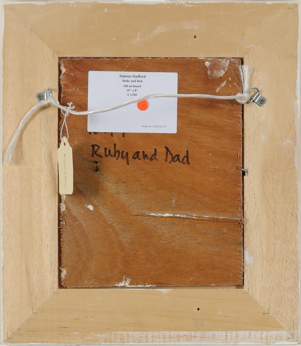 ‡Simeon Stafford (b.1956) Ruby and Dad Signed and dated Simeon/04.5.9 (upper right) and - Image 3 of 3