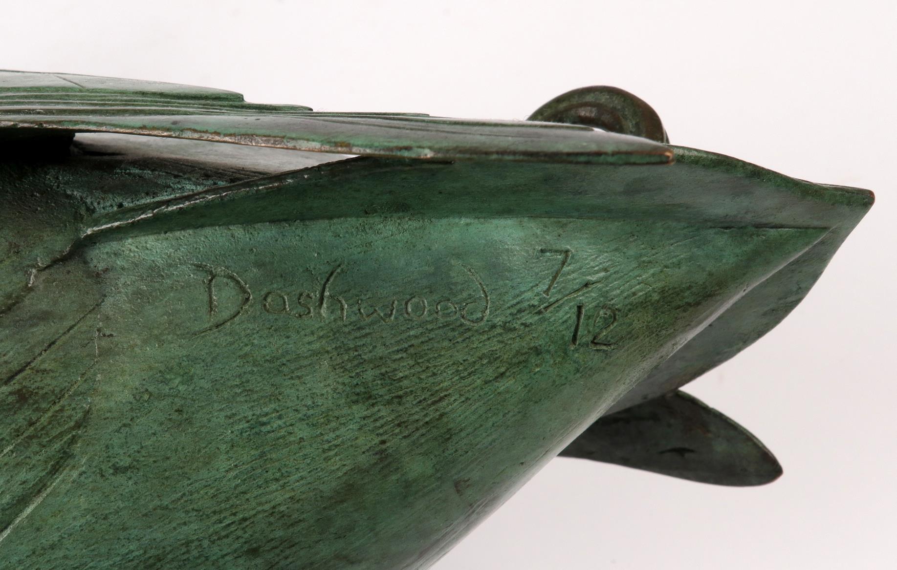 ‡Geoffrey Dashwood (b.1947) Mallard Drake I Signed and numbered Dashwood 7/12 Bronze with green - Image 4 of 4