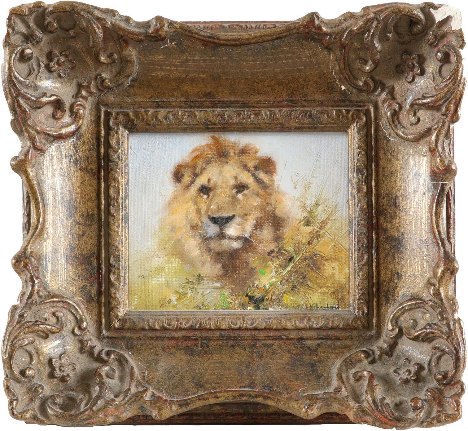 ‡David Shepherd CBE, FRSA (1931-2017) Lion Signed Da**Shepherd (lower right); signed and dated - Image 2 of 3