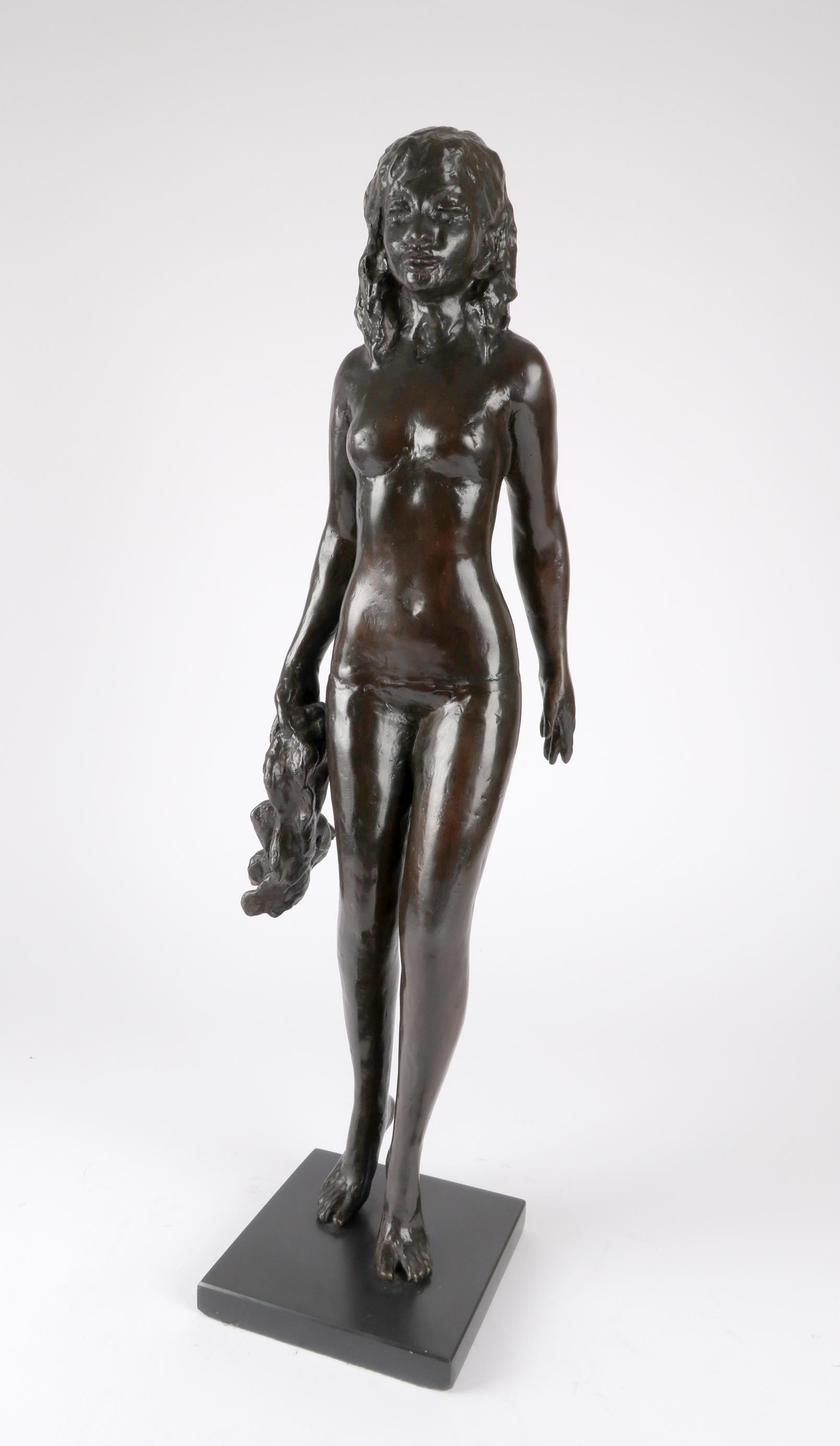 ‡Sydney Harpley RA, FRBS (1927-1992) Towel girl Signed and numbered Harpley/2/9 (to towel) Bronze on - Image 2 of 4