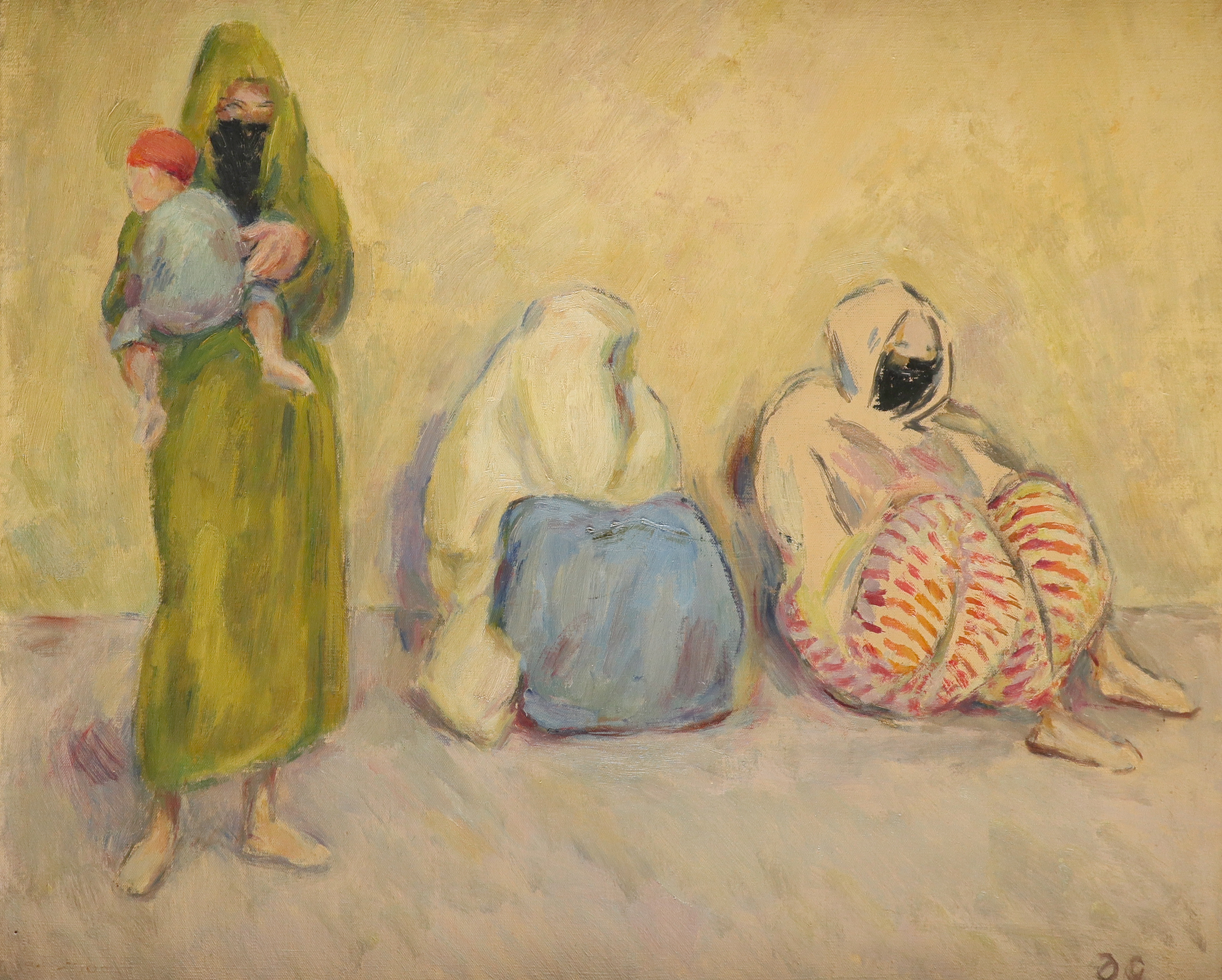 ‡Duncan Grant (1885-1978) Waiting for the Bus, Fez Signed with initials DG (lower right), and