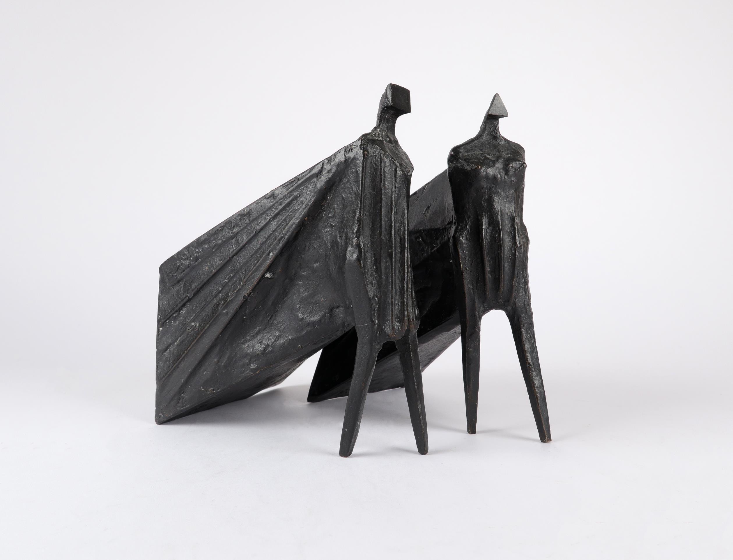 ‡Lynn Chadwick CBE, RA (1914-2003) Pair of Cloaked Figures III Each signed dated and numbered C/77/ - Image 21 of 22