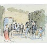 ‡Sir Hugh Casson CH, KKCVO, PRA, RDI (1910-1999) Picnic Interval; Garden Gate, Warham Two, the