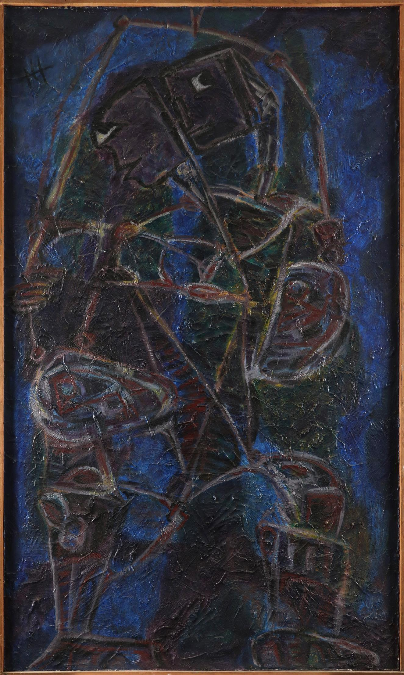 ‡Nina Hosali (1898-1987) Judas Signed with initals NH (upper left), and signed and dated Hosali ' - Image 2 of 3