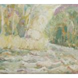 ‡Michael Paul Rainsford (Irish Contemporary) A river in spate Signed M Rainsford (lower left) Oil on