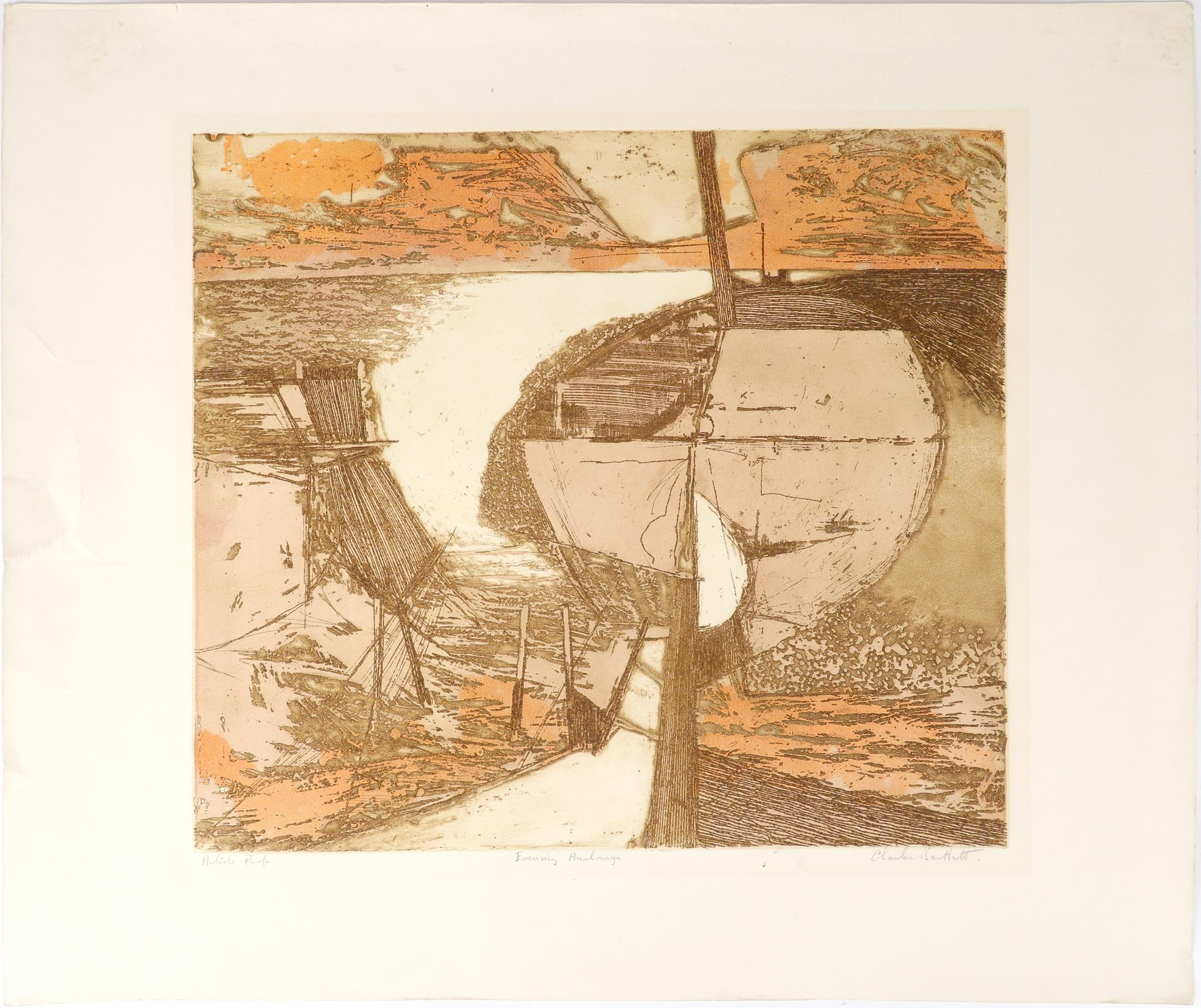 ‡Charles Bartlett (1921-2014) Ships at Anchor; Evening Anchorage Two, the former signed, numbered - Image 5 of 9