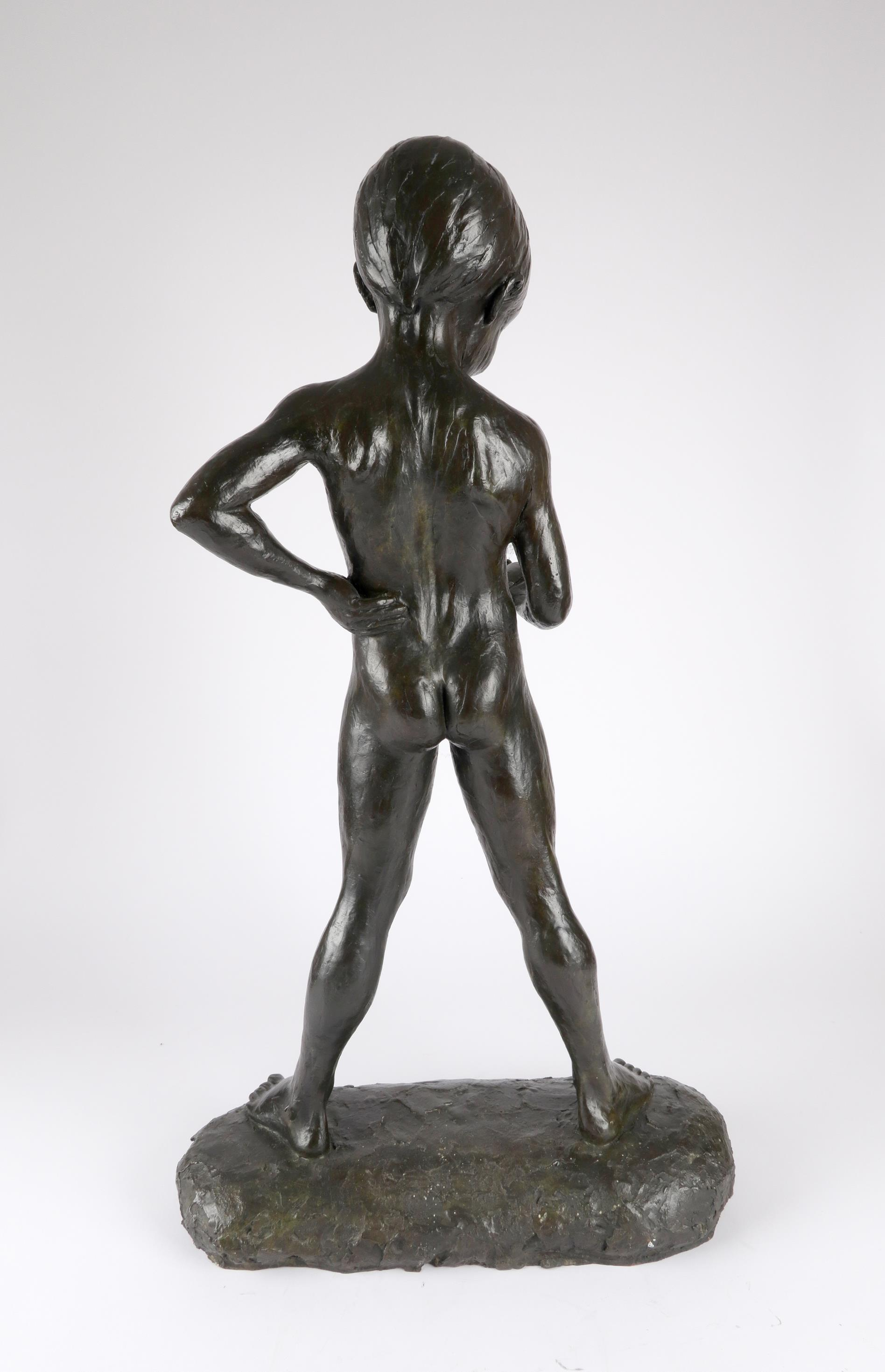 ‡Enzo Plazzotta (Italian 1921-1991) The fisherboy Stamped with signature and number Plazzotta/3/9, - Image 3 of 4