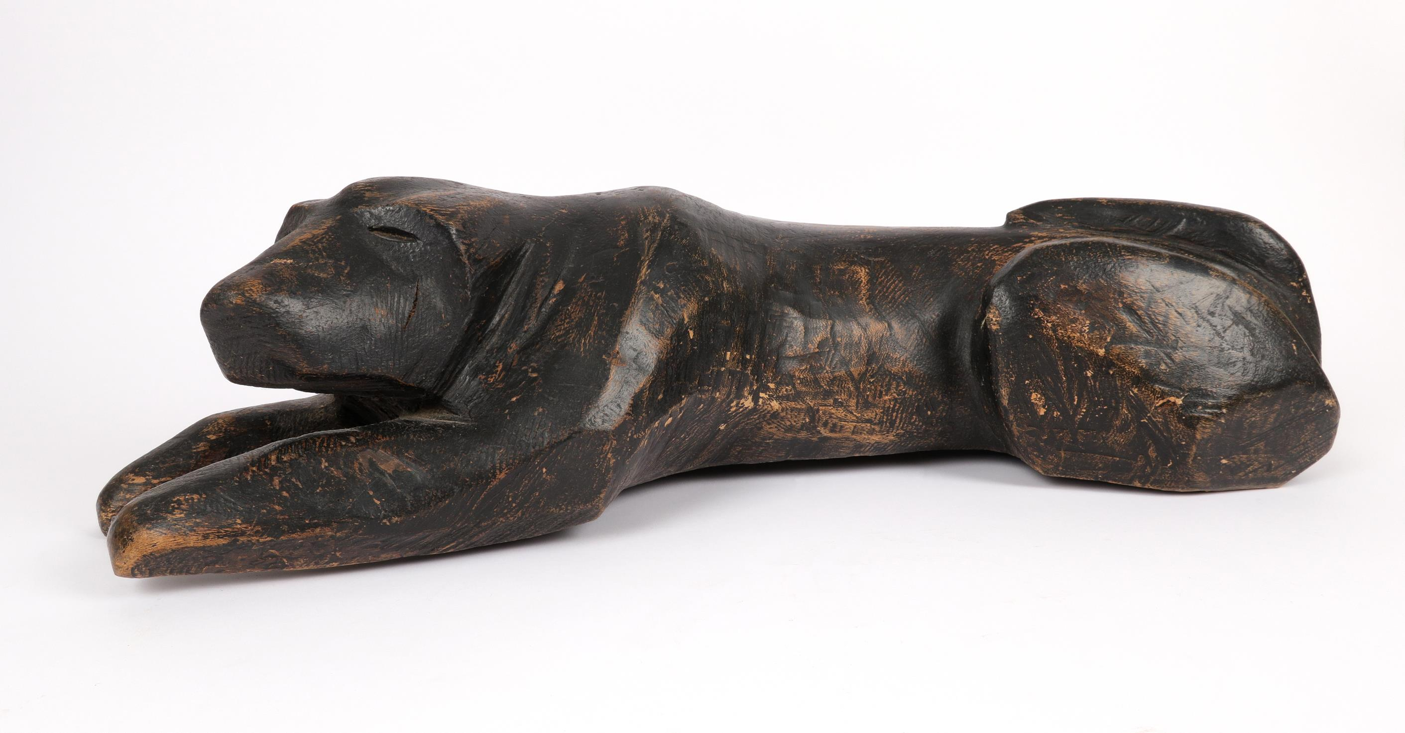 ‡Ian Rook (20th Century) Dog turning its head; Recumbent dog Two, the former signed and dated I ROOK