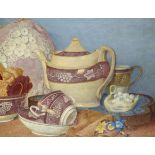 ‡Maxwell Ashby Armfield RWS (1881-1972) The pink lustre set Signed with monogram and numbered