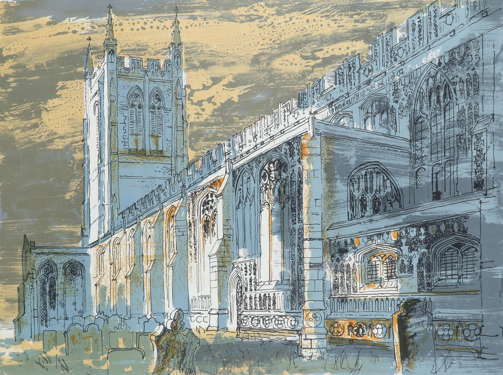 ‡John Piper CH (1903-1992) Long Melford Church (Levinson 336) Signed and numbered John Piper 261/275