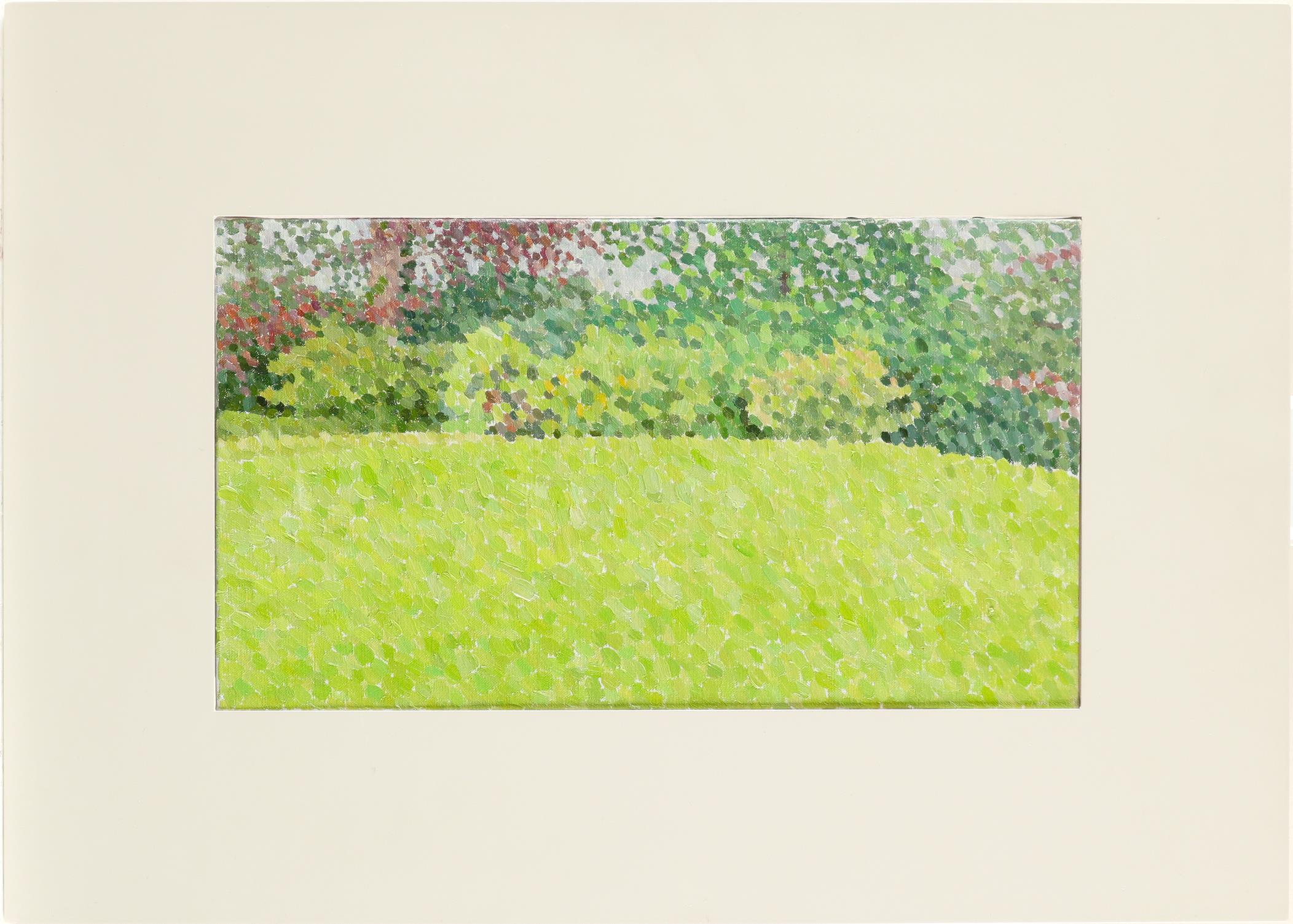 ‡William Powell Wilkins CBE (b.1938) Rain: The Edge of the Lawn Signed with initials and dated WW ' - Image 2 of 3