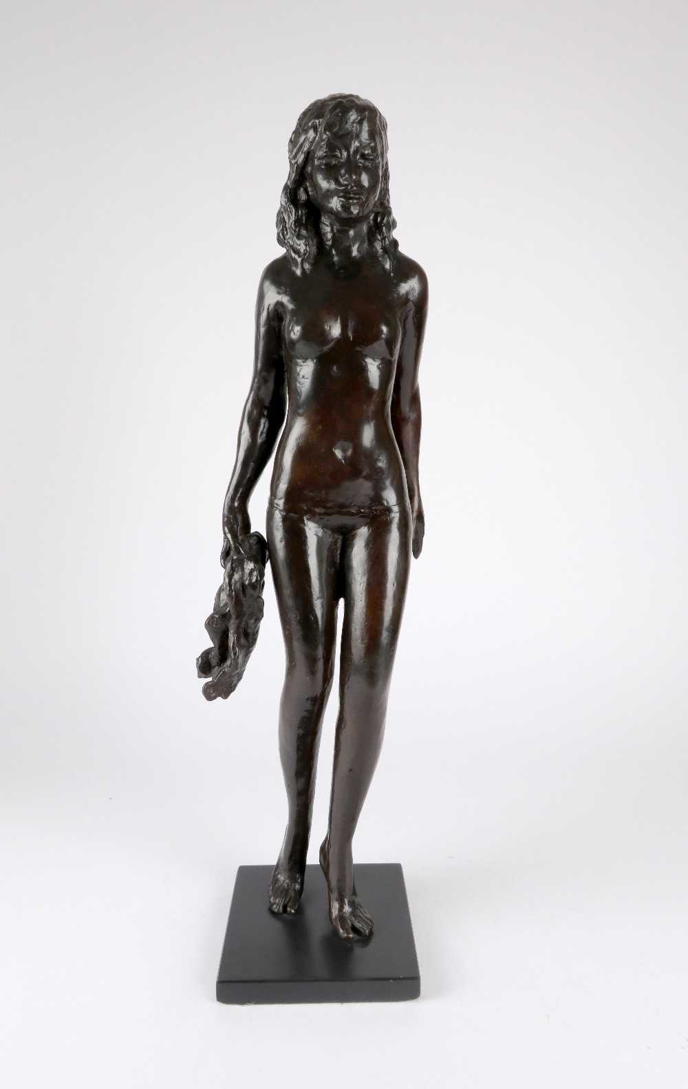 ‡Sydney Harpley RA, FRBS (1927-1992) Towel girl Signed and numbered Harpley/2/9 (to towel) Bronze on