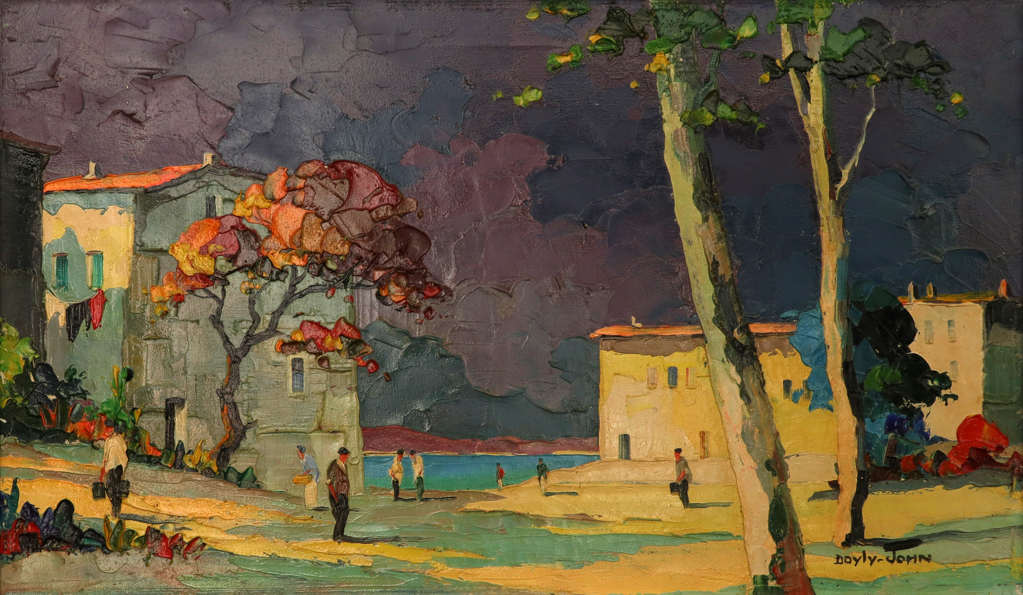 ‡Cecil Rochfort D'Oyly-John (1906-1993) Le Lavandou, near Toulon Signed DOYLY-JOHN (lower right) and