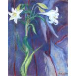 ‡Lindy Guinness (1941-2020) Easter lillies Signed and dated Lindy Guinness/1983 (lower right) Pastel