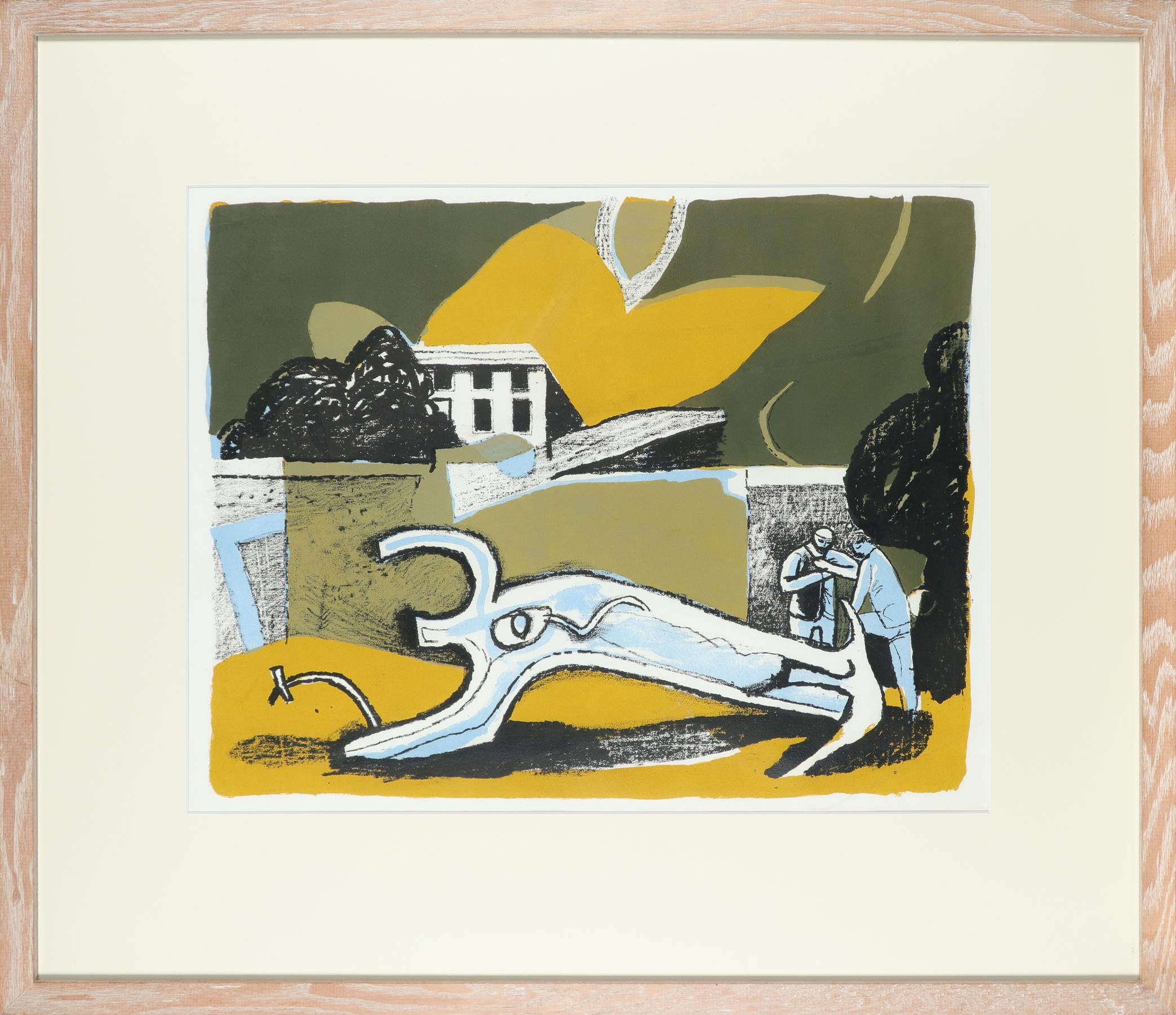 ‡Keith Vaughan (1912-1977) The Walled Garden Lithograph, 1951 38.7 x 49.5cm (image) - Image 2 of 3