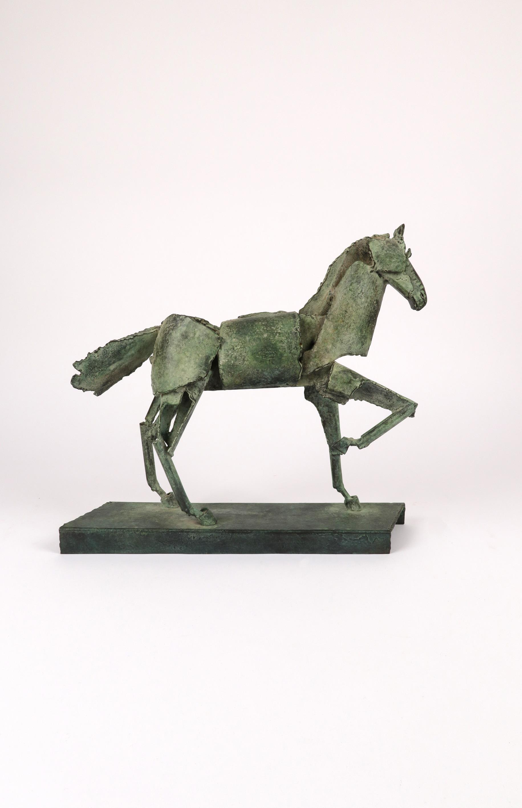 ‡Iain Nutting (b.1961) Proud horse Signed and numbered IAIN 1/8 (to base) Bronze with green - Image 3 of 5