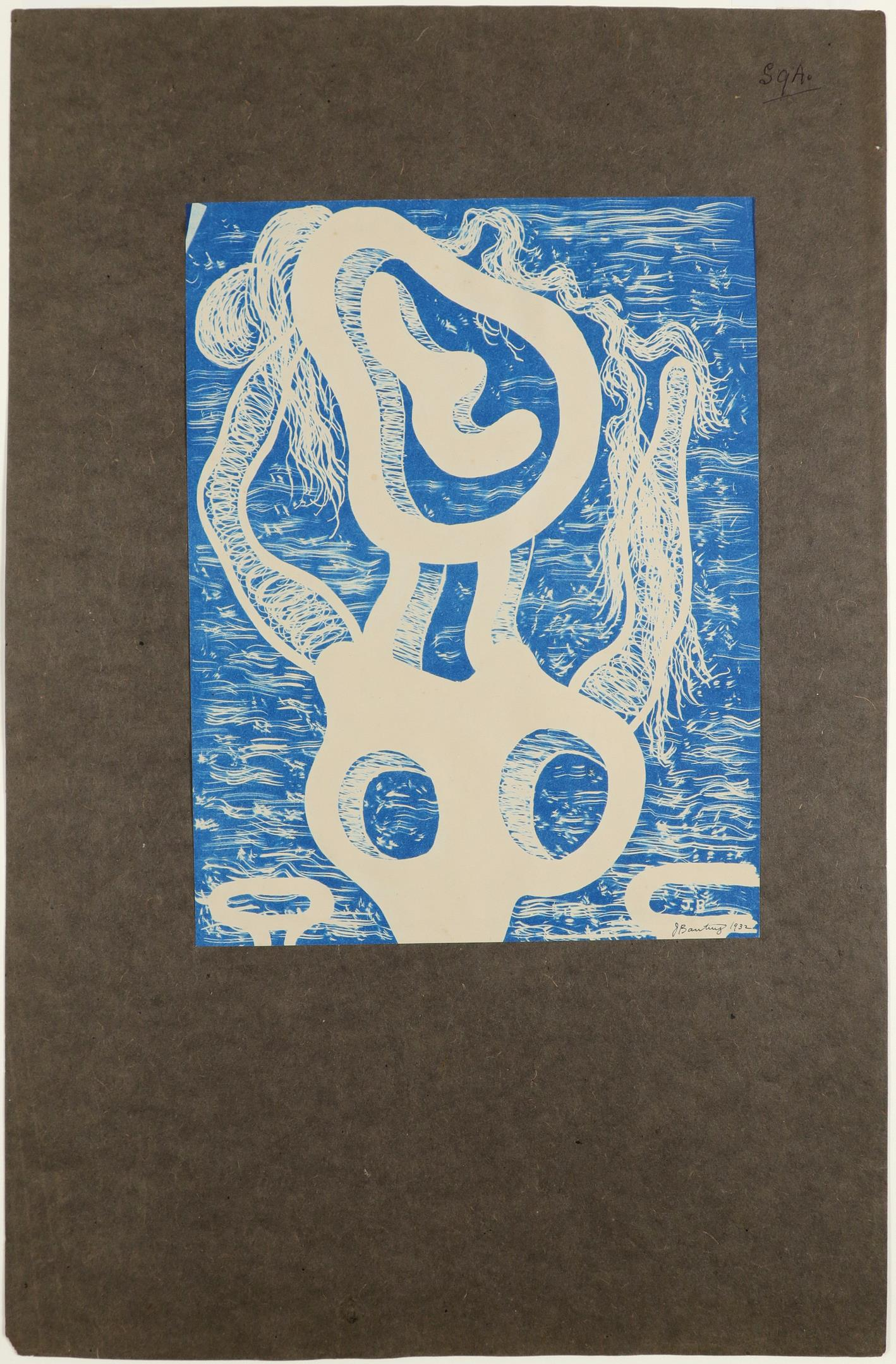 ‡John Banting (1902-1972) Untitled Signed and dated J Banting/1932 (in ink, lower centre) Cyanotype, - Image 2 of 4