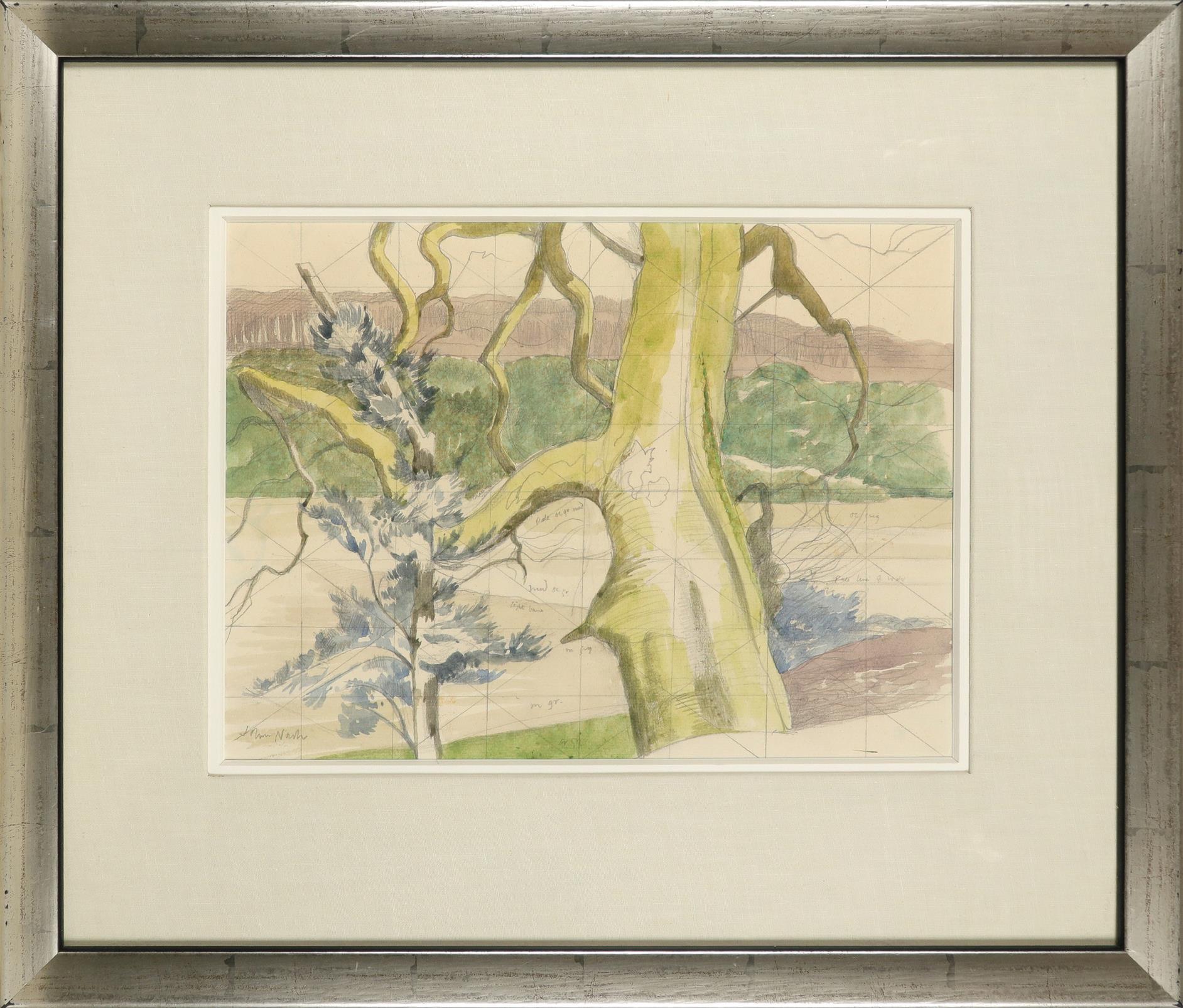 ‡John Nash CBE, RA (1893-1977) Tresililan estuary, Truro Signed John Nash (lower left) and variously - Image 2 of 3