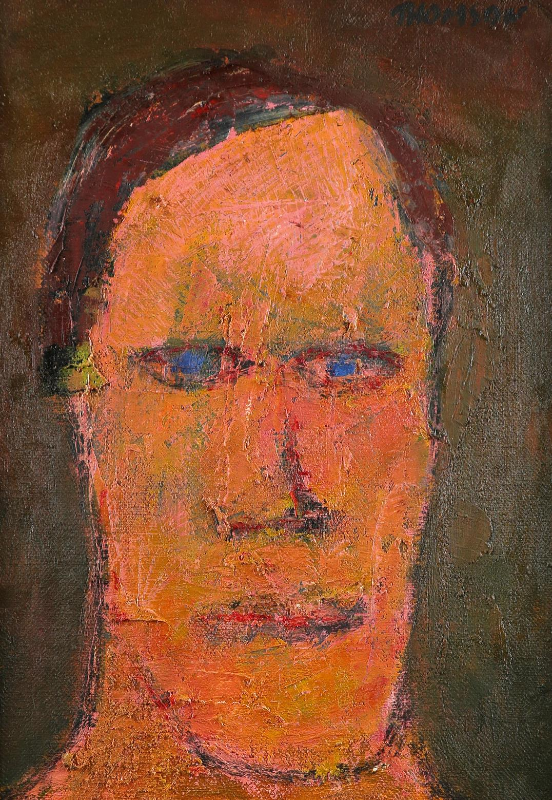 ‡Douglas Thomson (Scottish b.1955) The Straight Man Signed THOMSON (upper right), and signed,
