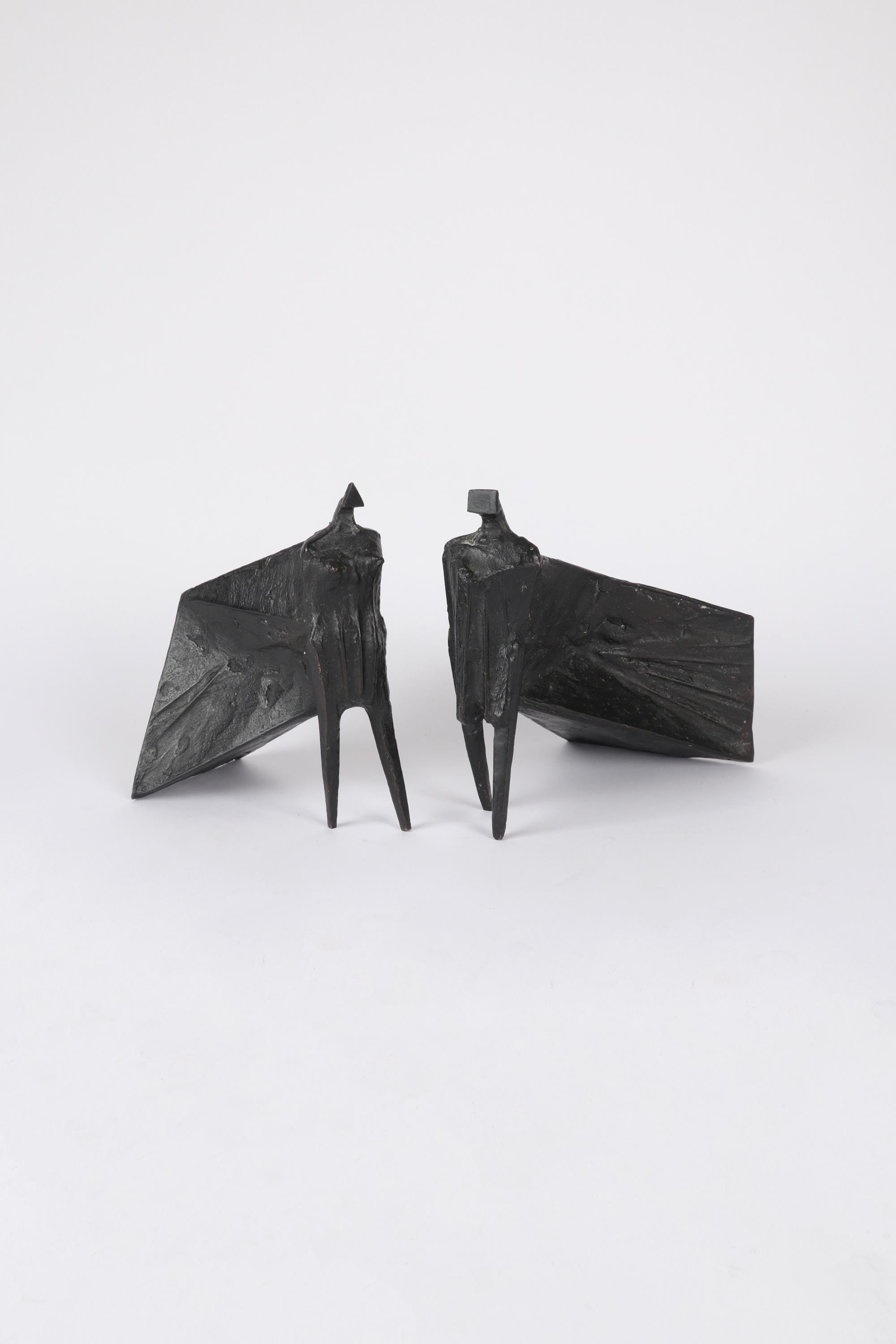 ‡Lynn Chadwick CBE, RA (1914-2003) Pair of Cloaked Figures III Each signed dated and numbered C/77/ - Image 12 of 22