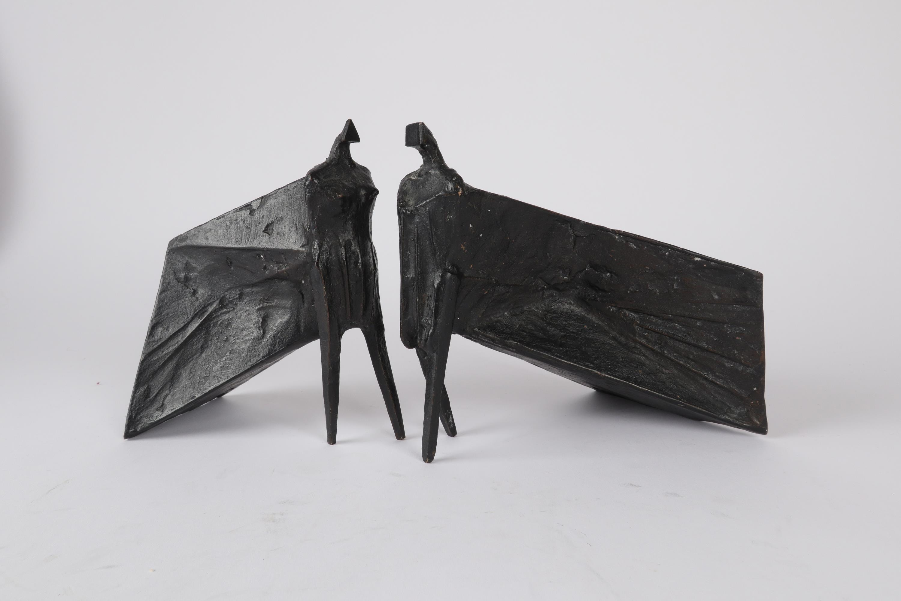 ‡Lynn Chadwick CBE, RA (1914-2003) Pair of Cloaked Figures III Each signed dated and numbered C/77/ - Image 16 of 22