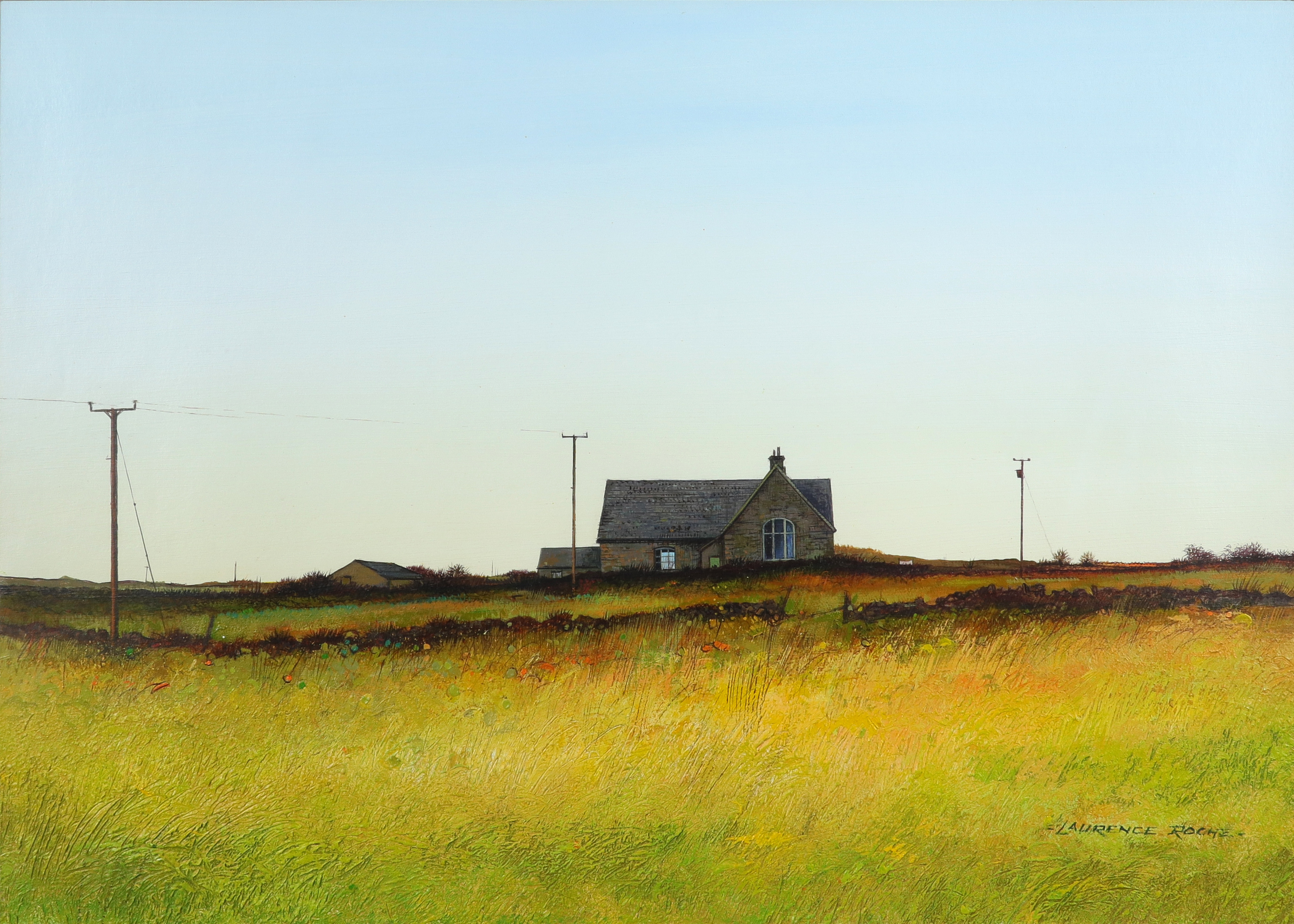 ‡Laurence Roche (Welsh b.1944) Henner School, Pembrokeshsire Signed -LAURENCE ROCHE.- (lower