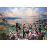 ‡David Mach RA (Scottish b.1956) The Tartan Army I, M8 Project Collage 57 x 81.5cm Provenance: