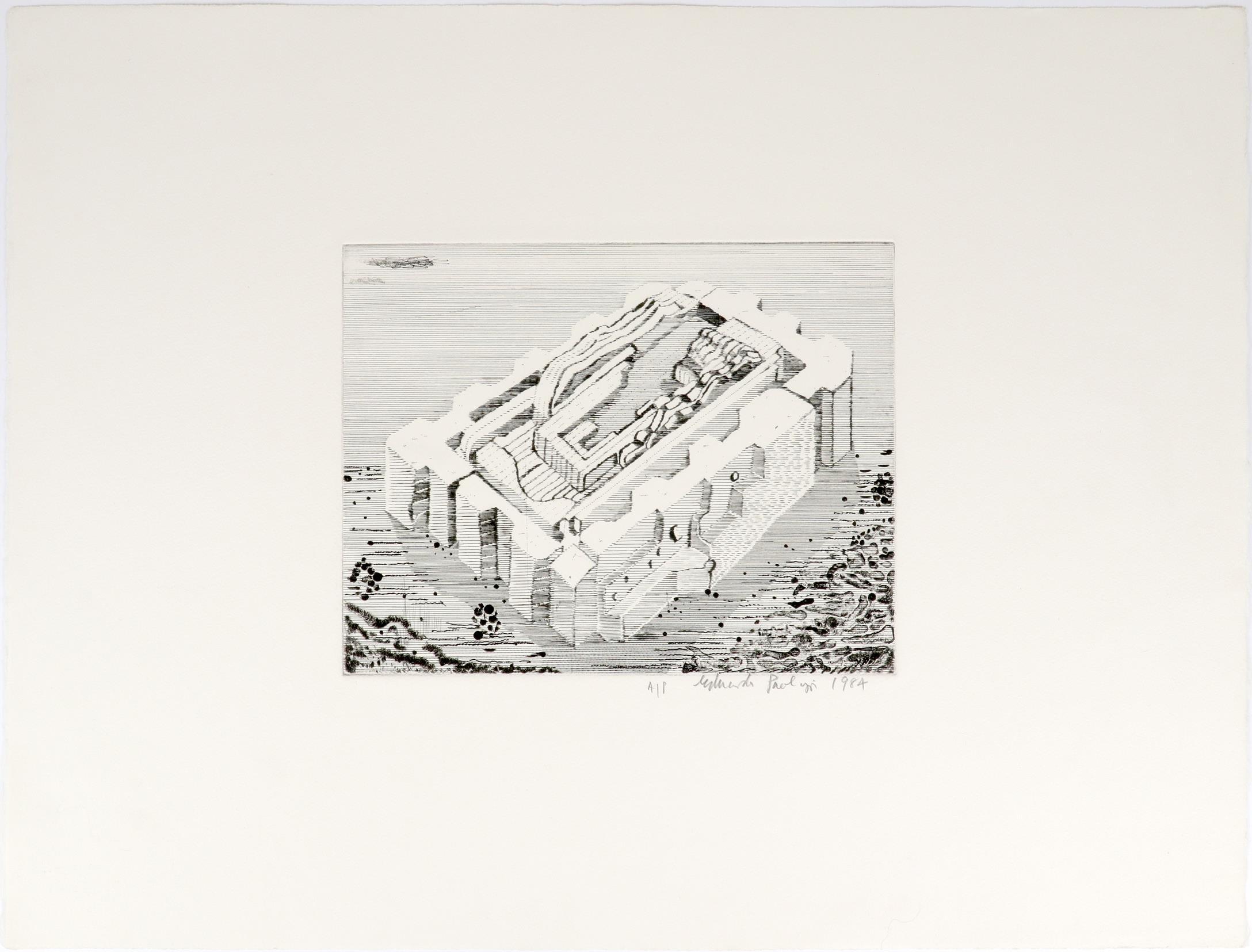 ‡Sir Eduardo Paolozzi CBE RA (Scottish 1924-2005) Study for Bruckner; On the Moon; Untitled Three, - Image 5 of 9