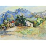 ‡Robert Mestelan (French 20th Century) Château de Redortier, Aix-en-Provence Signed and dated R
