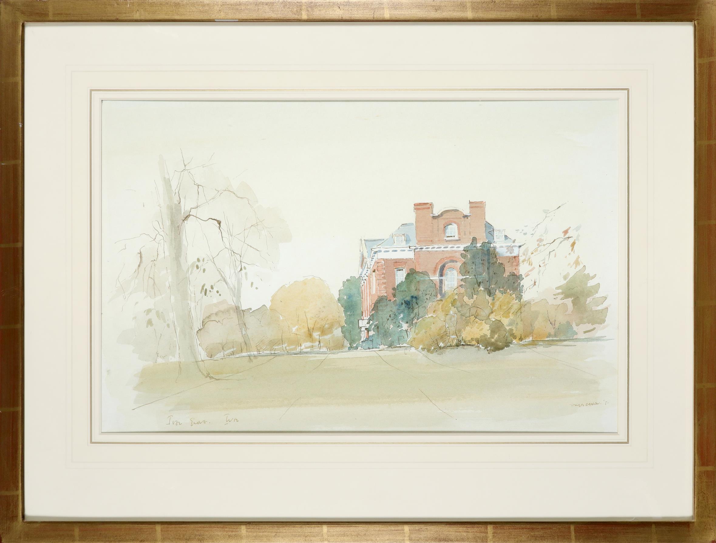 ‡Sir Hugh Casson CH, KKCVO, PRA, RDI (1910-1999) Iver Grove, Buckinghamshire Signed and dated HUGH - Image 2 of 3