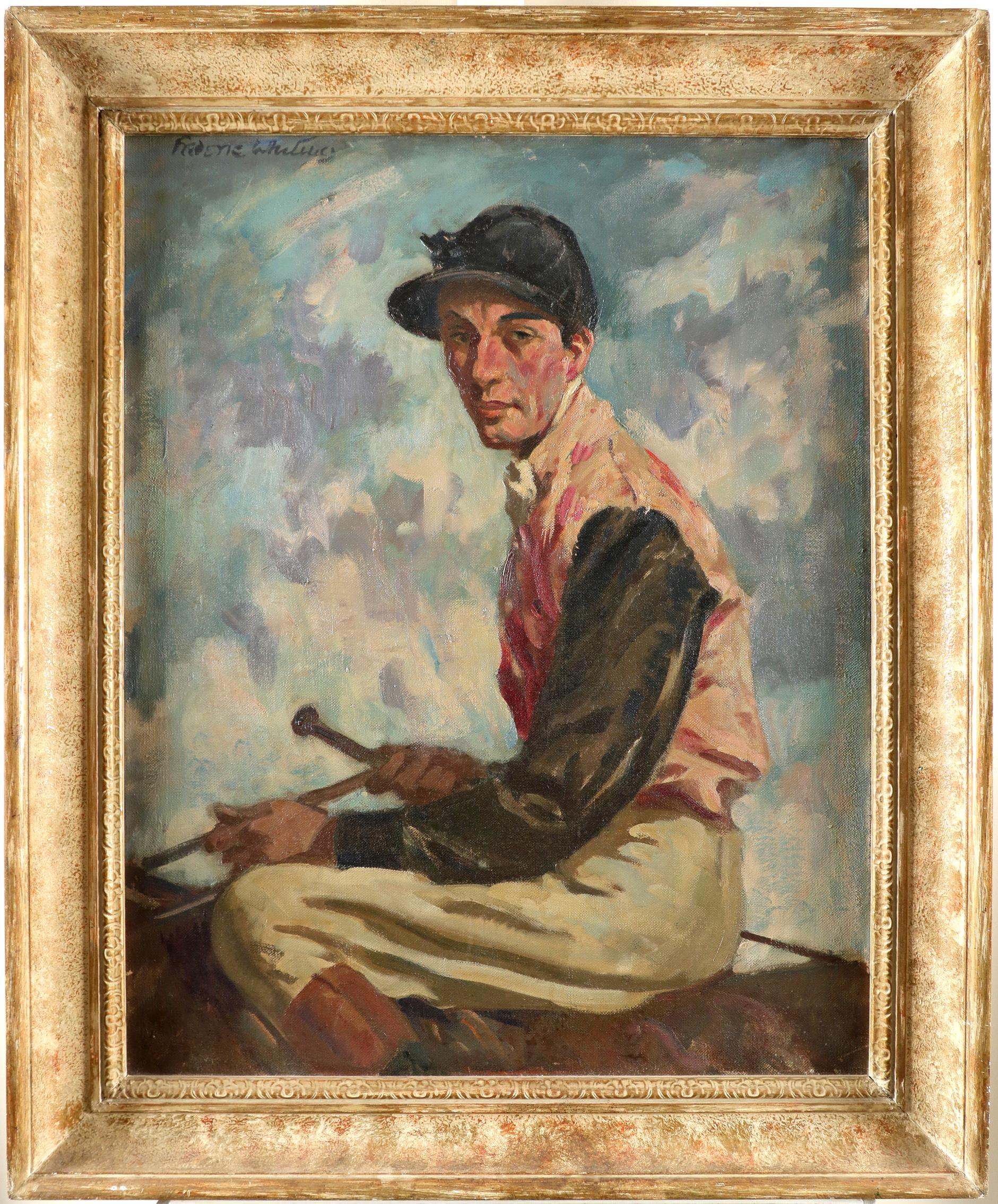 ‡Frederic Whiting (1874-1962) Portrait of a jockey, traditionally identified as Fred Archer - Image 2 of 3