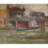 ‡John Hodgson Lobley (1878-1954) Cannon Street Station Signed, titled and inscribed No/CANNON