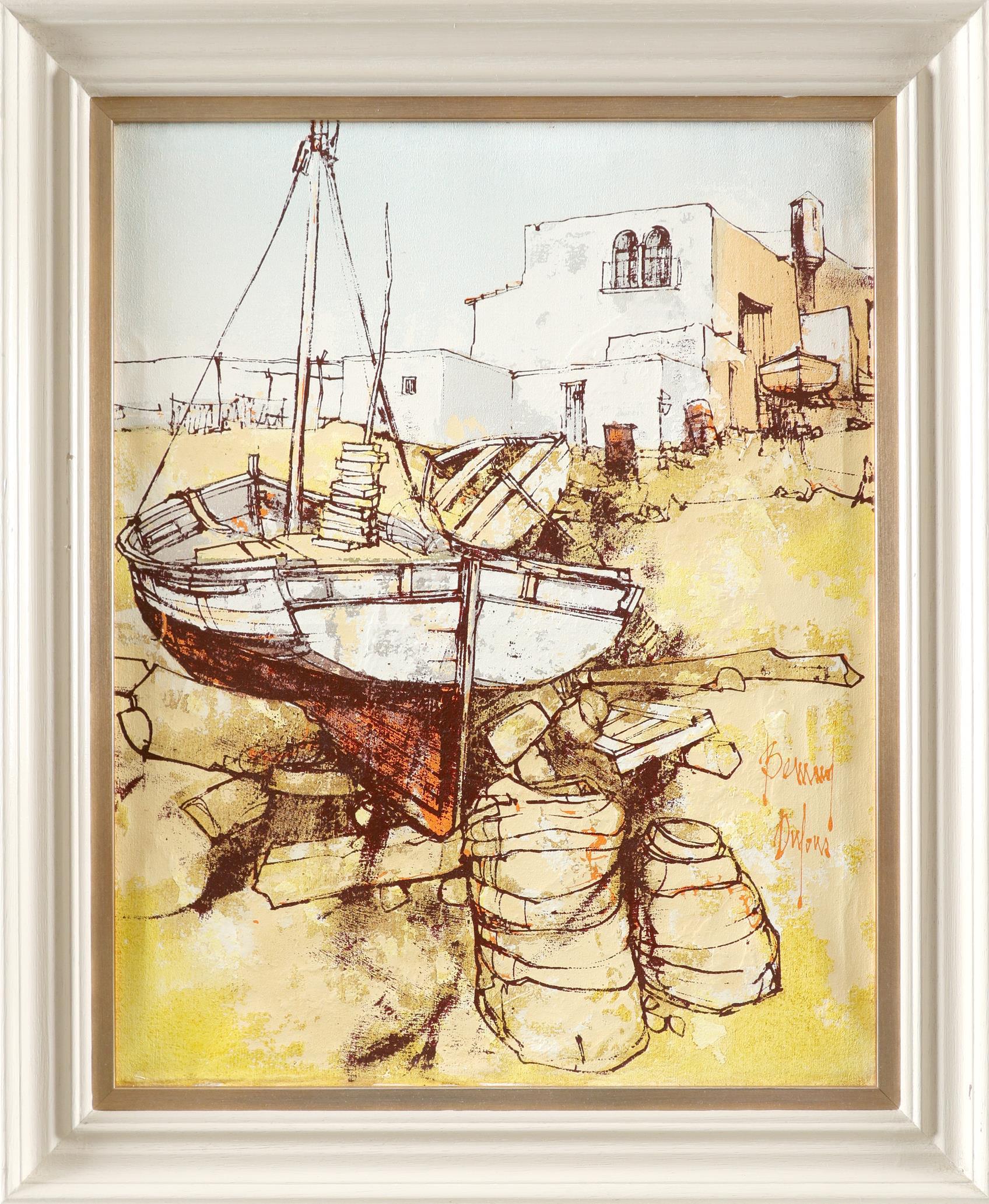 ‡Bernard Dufour (French 1922-2016) Young women boating; Young women in an alleyway Saint Tropez; A - Image 8 of 12