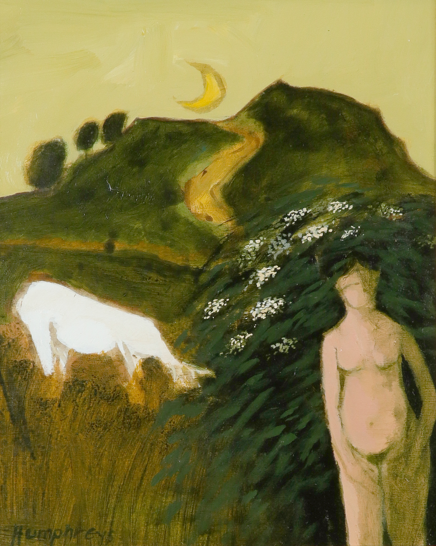 ‡David Humphreys (b.1937) Pembrokeshire Frolic 2 Signed Humphreys (lower left), and signed and