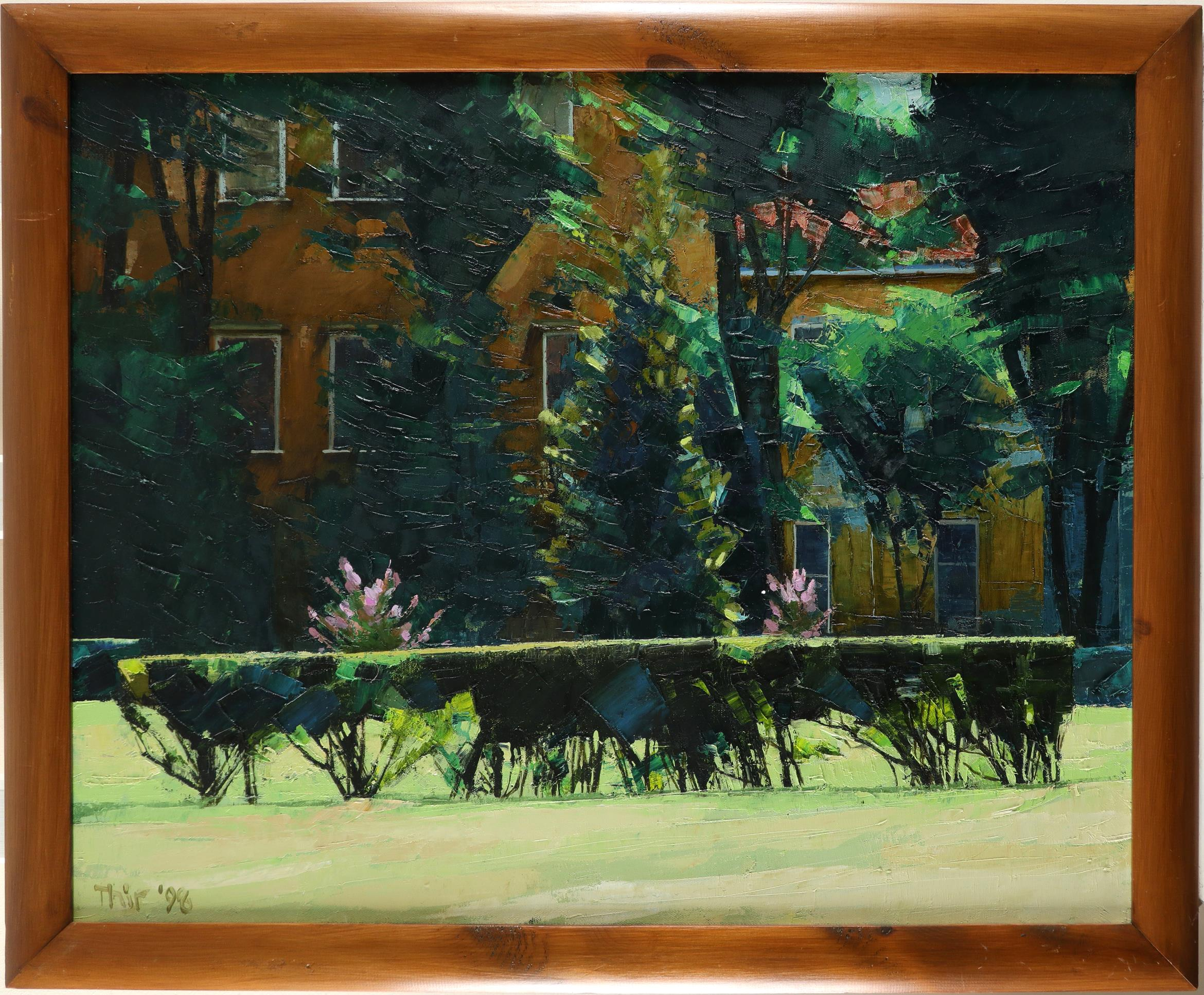 ‡John Thirlwall (b.1943) Ducal Palace Gardens, Mantua Signed and dated Thir '98 (lower left), and - Image 2 of 3