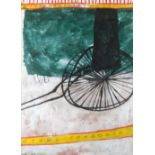 ‡Martin Bradley (b. 1931) Cart 1 Signed MB 1965 (lower left) Watercolour 77 x 56cm Provenance: