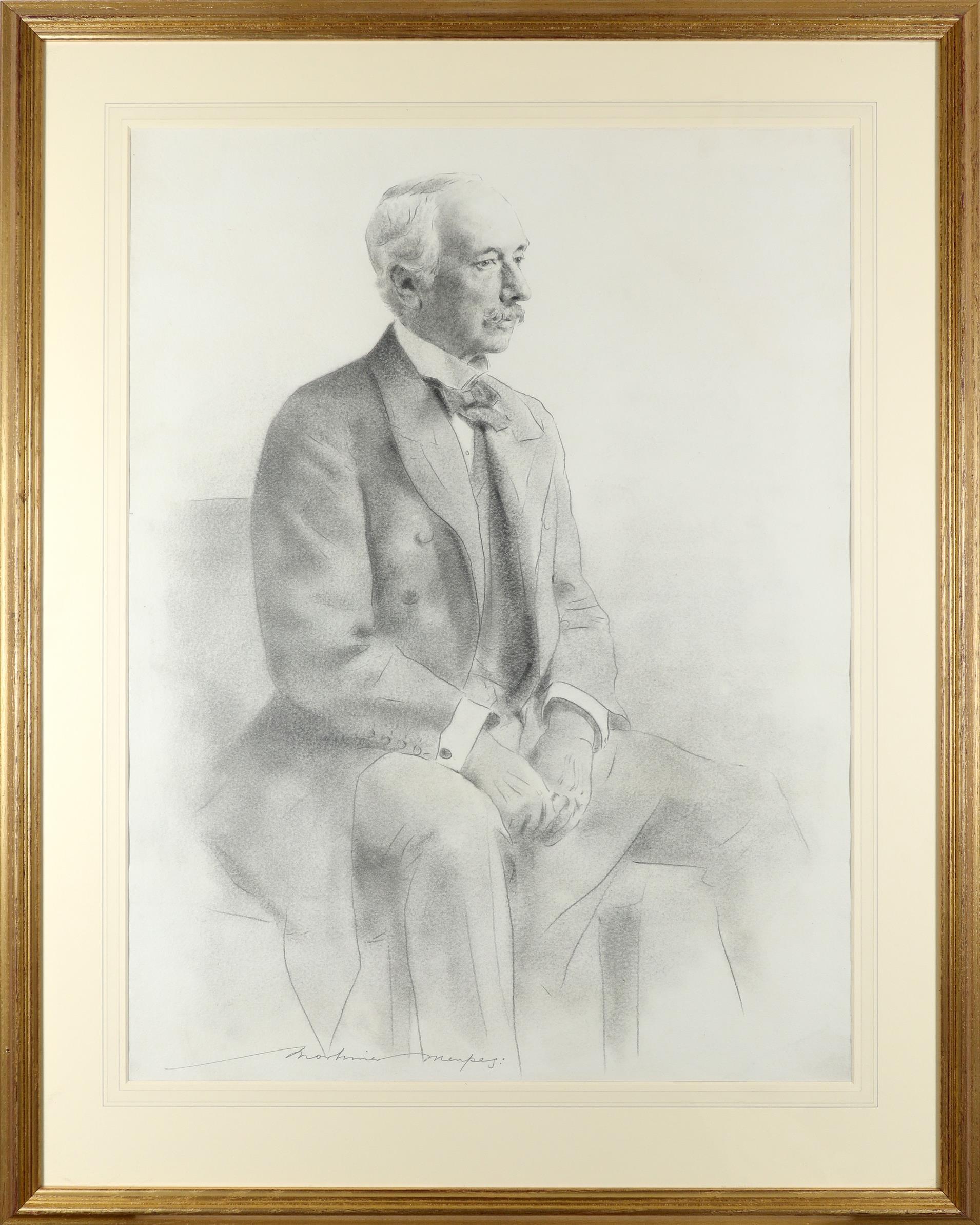 Mortimer Menpes (1860-1938) Portrait of Field Marshall the Rt. Hon. Garnet Joseph, Viscount - Image 2 of 3