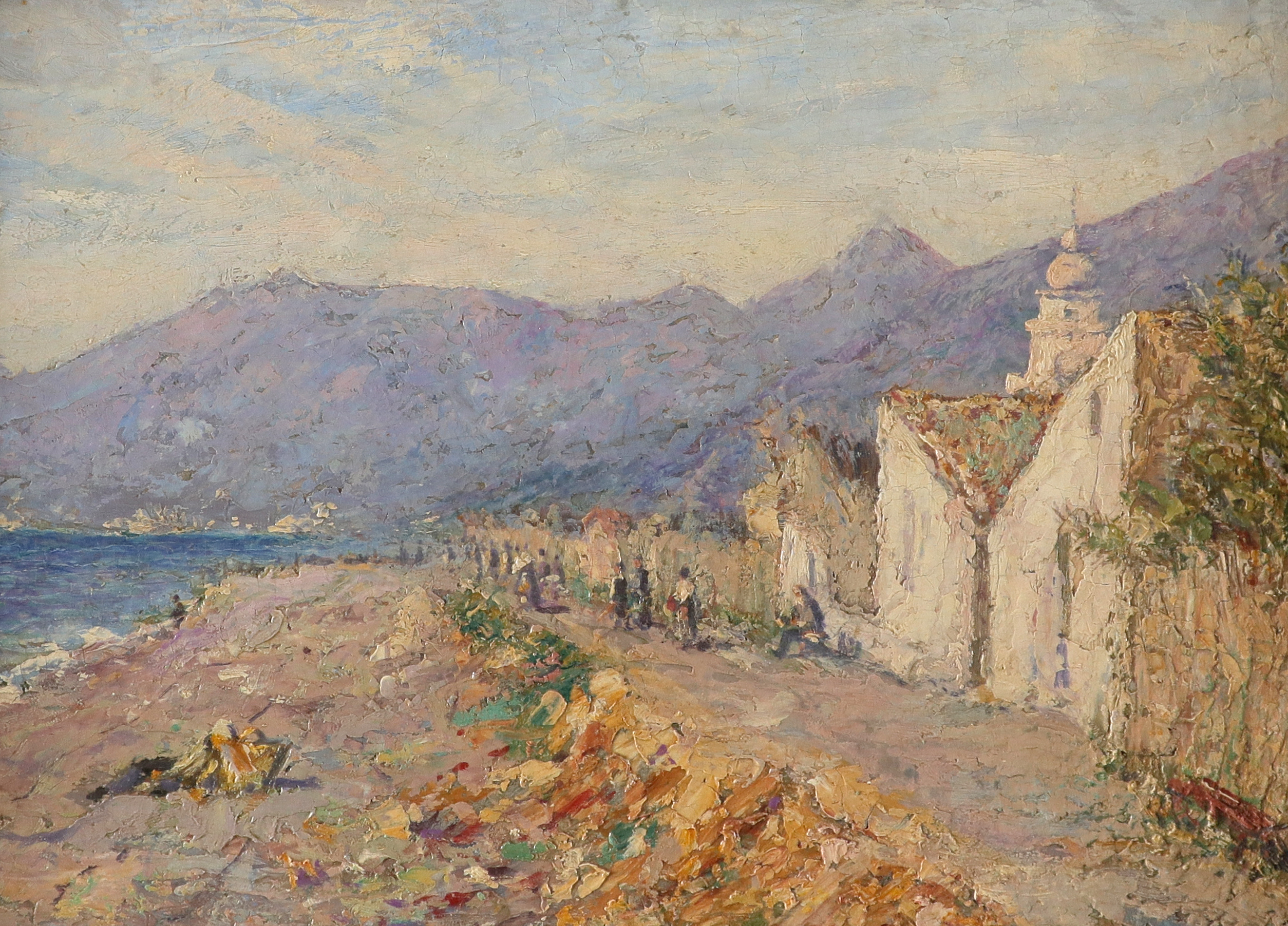 Continental School 20th Century A view of Kotor, Montenegro Oil on canvas 25.6 x 35.7cm