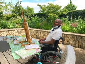 £100 will fund two months worth of art equipment for our garden at Stanmore hospital in London.