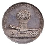 Northamptonshire Agricultural Society: a heavy silver prize medal: 51mm, a bushel of wheat with a