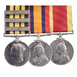 Three medals to Leading Seaman Richard Jones, Royal Navy: East and West Africa 1887-1900, 3