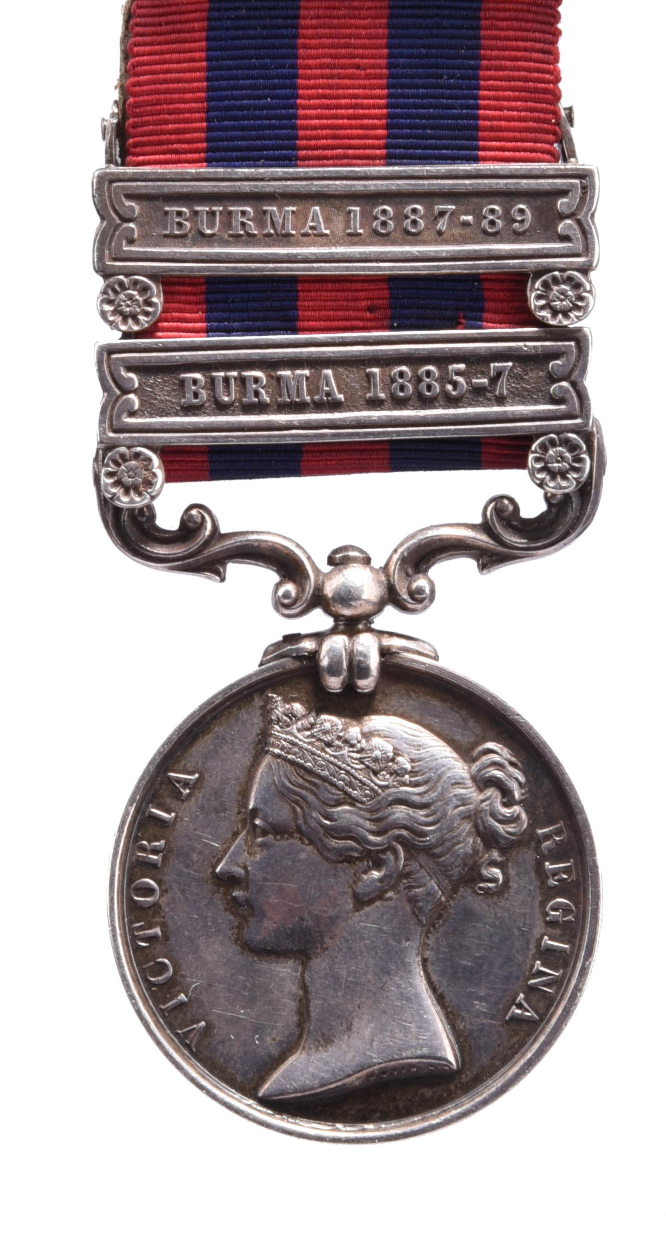 An India General Service Medal 1849-95 to Private T. Earl, Royal West Surrey Regiment: 2 clasps: