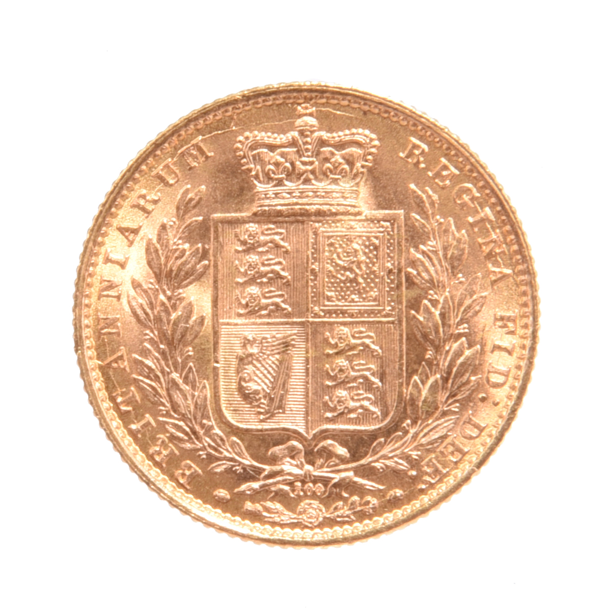 Victoria, gold sovereign, 1872, die number 100 (S3853B), die cracks, good extremely fine. - Image 2 of 2
