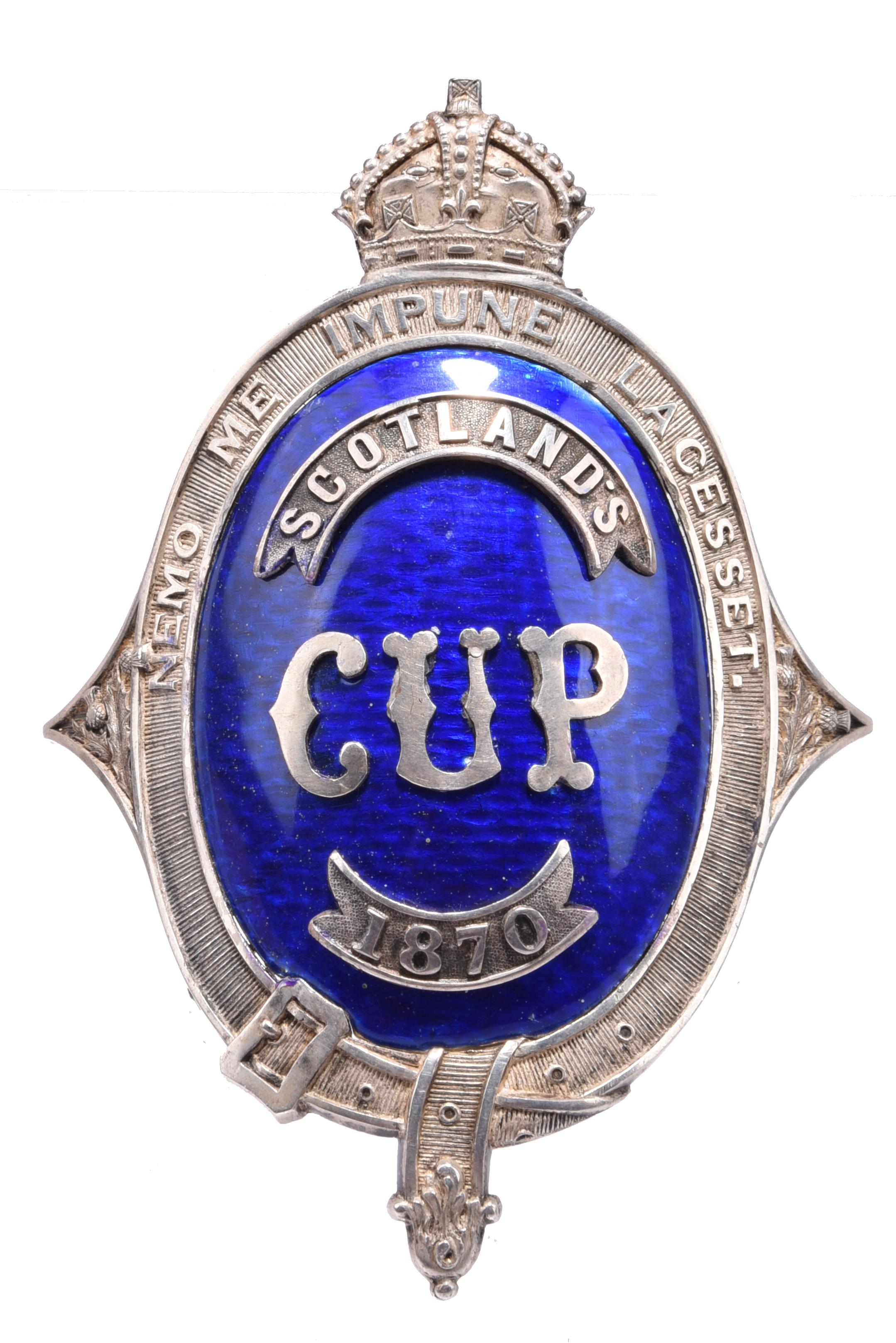 Forfar Artillery Volunteers/Royal HighlandShow: Scotland's Cup 1870, a silver and enamel brooch,