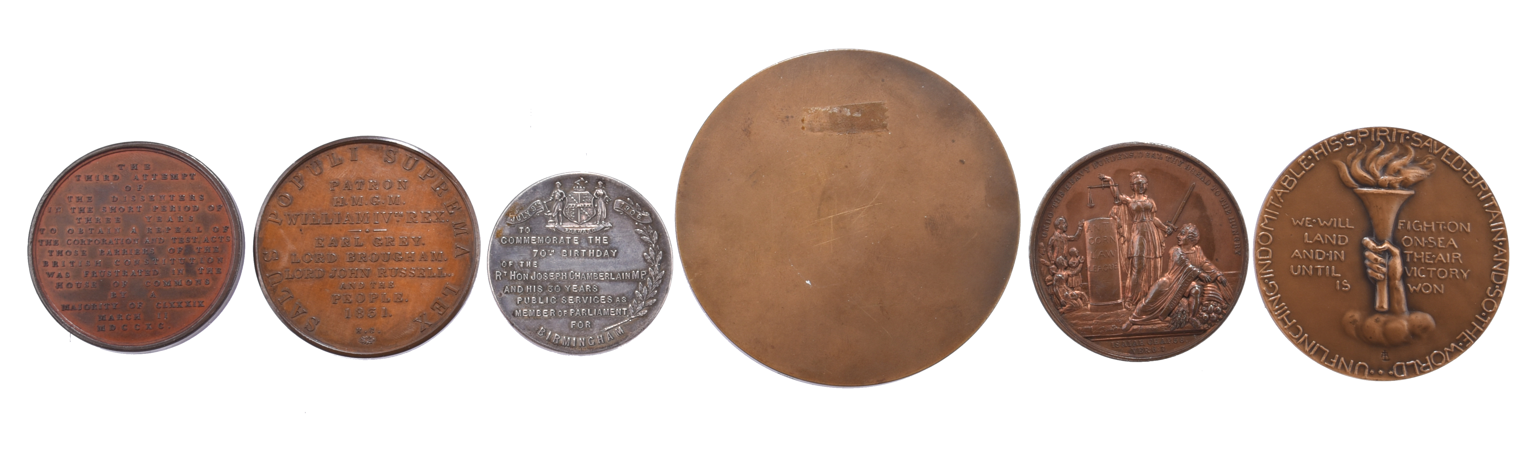 A quantity of commemorative medals, political themes, including: Church and King Club Manchester - Image 2 of 2