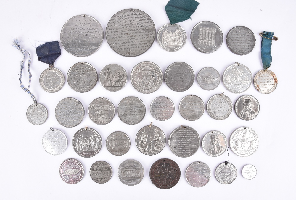 A quantity of historical medals, white metal, various religious subjects including: Wesleyan - Image 2 of 2