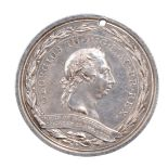 Board of Agriculture 1793, a silver prize medal, 48mm, laureate head of George III within a