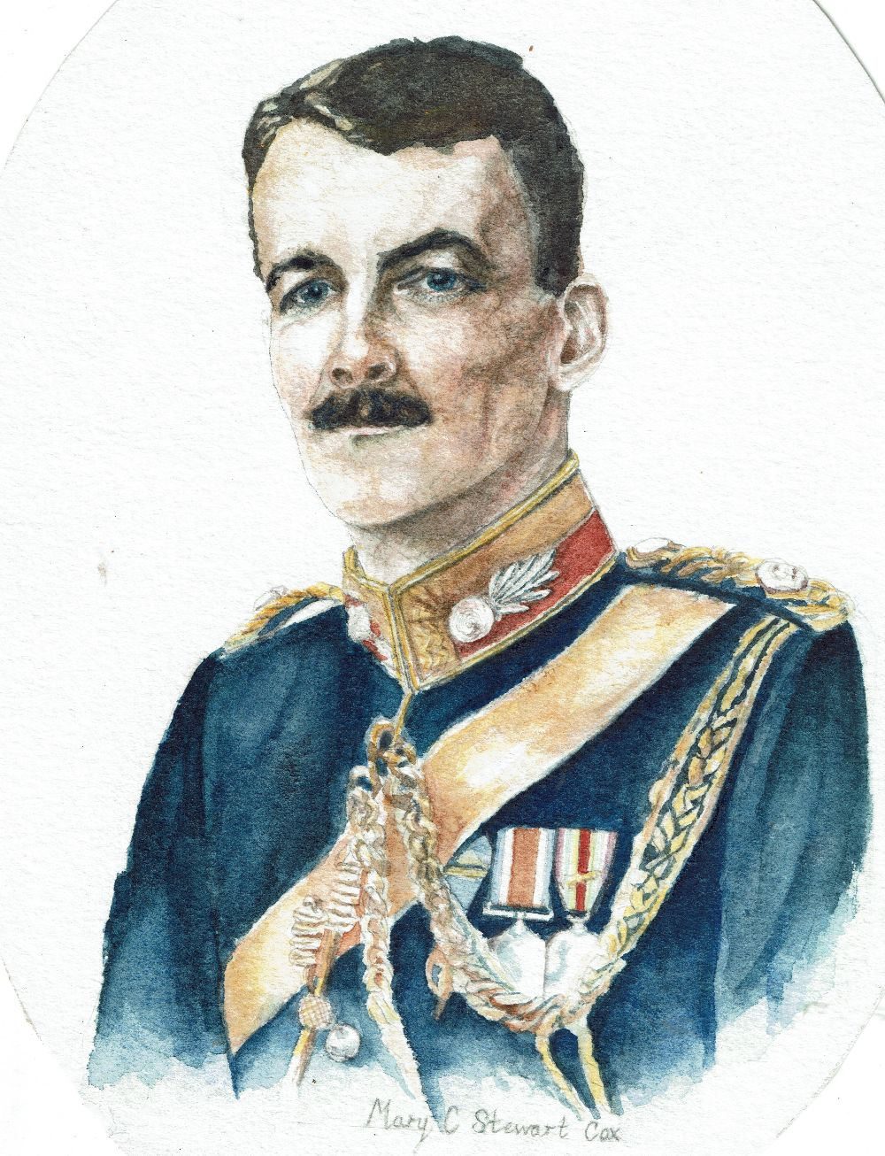 The Great War P.O.W. group of four medals to Captain (later Lieutenant-Colonel) Arthur Stewart- - Image 7 of 7